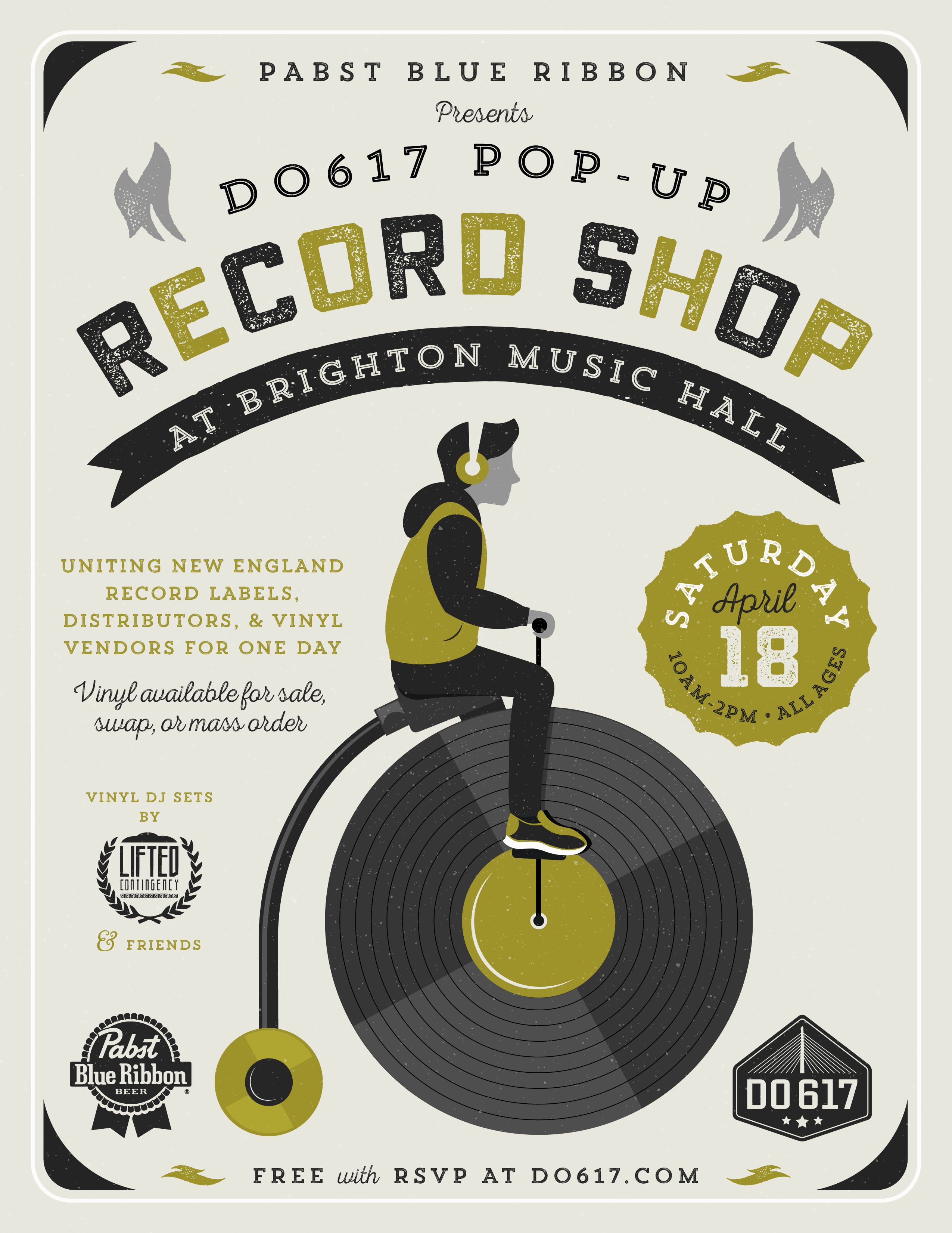 Do617 Pop-Up Record Shop in Boston at Brighton Music Hall